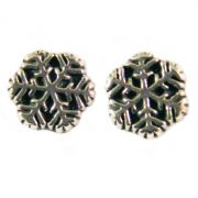 Sterling Silver Stud Earrings - Snowflakes
